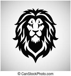 Lion Head Logo Vector Sport Mascot Design Illustration
