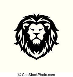 Lion Head Logo Vector Template Illustration Design Icon
