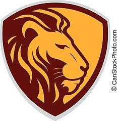 Lion head mascot