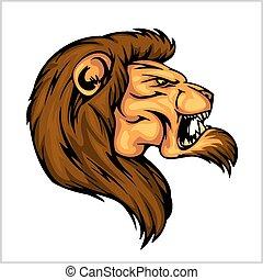 Lion head mascot - vector illustration for sport team
