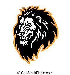 Lion Head Roaring Logo Vector Esport Mascot Illustration