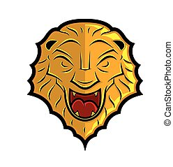Lion Head Shield Design