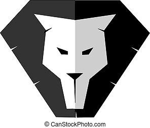 Lion head - silhouette image of a lion head