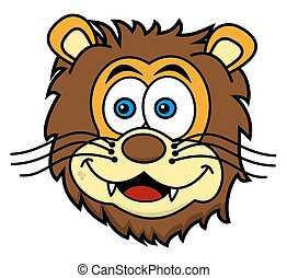 lion head smiling