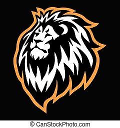 Lion Head Sports Mascot Logo Vector Icon Design