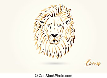 Lion head stylized logo