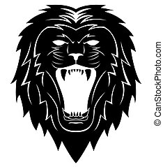 Lion Head Tattoo Illustration