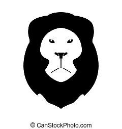 Lion head the black color icon .