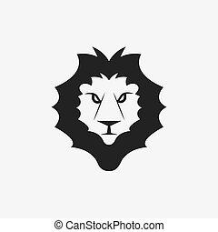 Lion head vector design template
