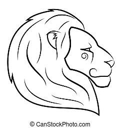 Lion head vector illustration 2 - Illustration of the lion...
