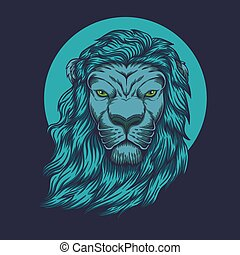 Lion head vector illustration