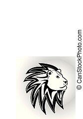 Lion head vector symbol