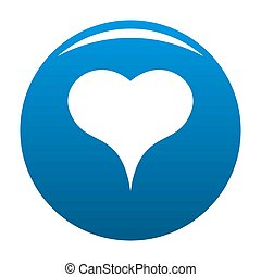 Lion Heart icon blue - Lion Heart icon. Simple illustration ...