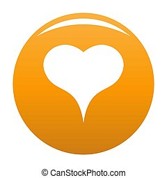 Lion Heart icon orange - Lion Heart icon. Simple ...