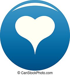 Lion Heart icon vector blue - Lion Heart icon. Simple ...