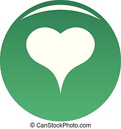 Lion Heart icon vector green - Lion Heart icon. Simple ...