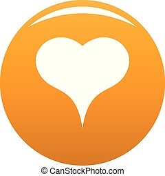 Lion Heart icon vector orange - Lion Heart icon. Simple ...