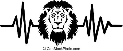Lion heartbeat line