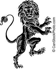 Lion Heraldic Coat of Arms Element
