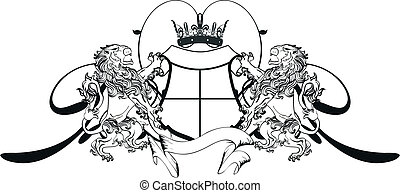 lion heraldic coat of arms tattoo1