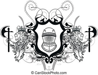 lion heraldic coat of arms tattoo3