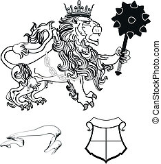 lion heraldic coat of arms tattoo6