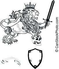 lion heraldic coat of arms tattoo7