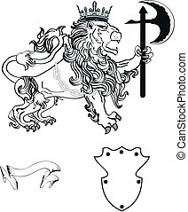 lion heraldic coat of arms tattoo9