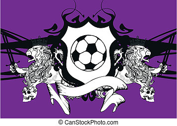 lion heraldic soccer coat of arms6
