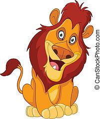 lion, heureux