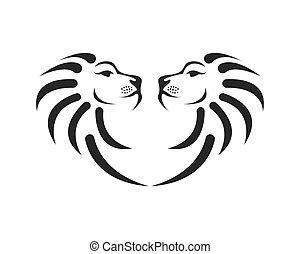 Lion icon logo design vector template
