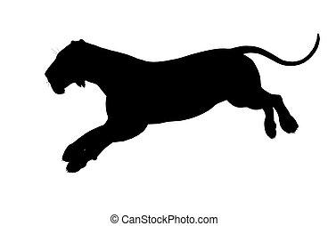 Lion Illustration Silhouette