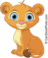 Lion king cub - A cute character lion king cub
