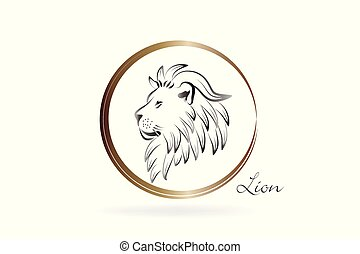 Lion king logo id card vector