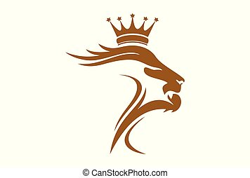 lion king logo vector graphic icon