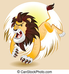Lion King of Beast - Male Lion Roaring And Hunting Animals...