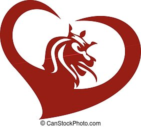 lion king red heart