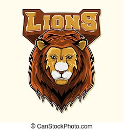 lion logo colorful