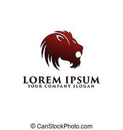 Lion logo design concept template