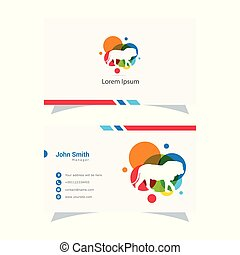 Lion logo design, king vector illustration, animal business card