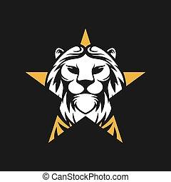 Lion Logo Vector Design Illustrator. Vintage Luxury Lion Head Logo Design Template. Abstract Lion Shield Logo Vector Design