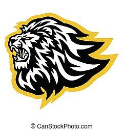 Lion Logo Vector Line Art Illustration Design