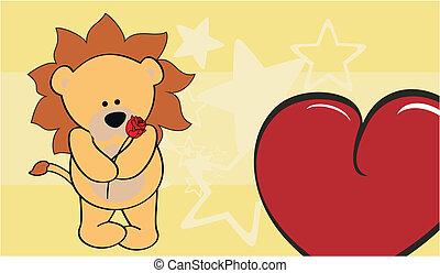 lion love valentine wallpaper