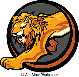 Lion Mascot Body Vector Graphic - Graphic Mascot Vector ...
