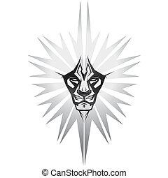 lion, metalic