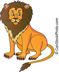 Lion on white background