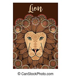 Lion ornamental card design