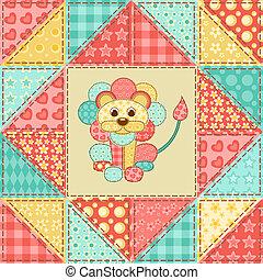 Lion quilt pattern