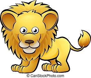 Lion Safari Animals Cartoon Character