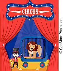 Lion Show at Circus Stage
